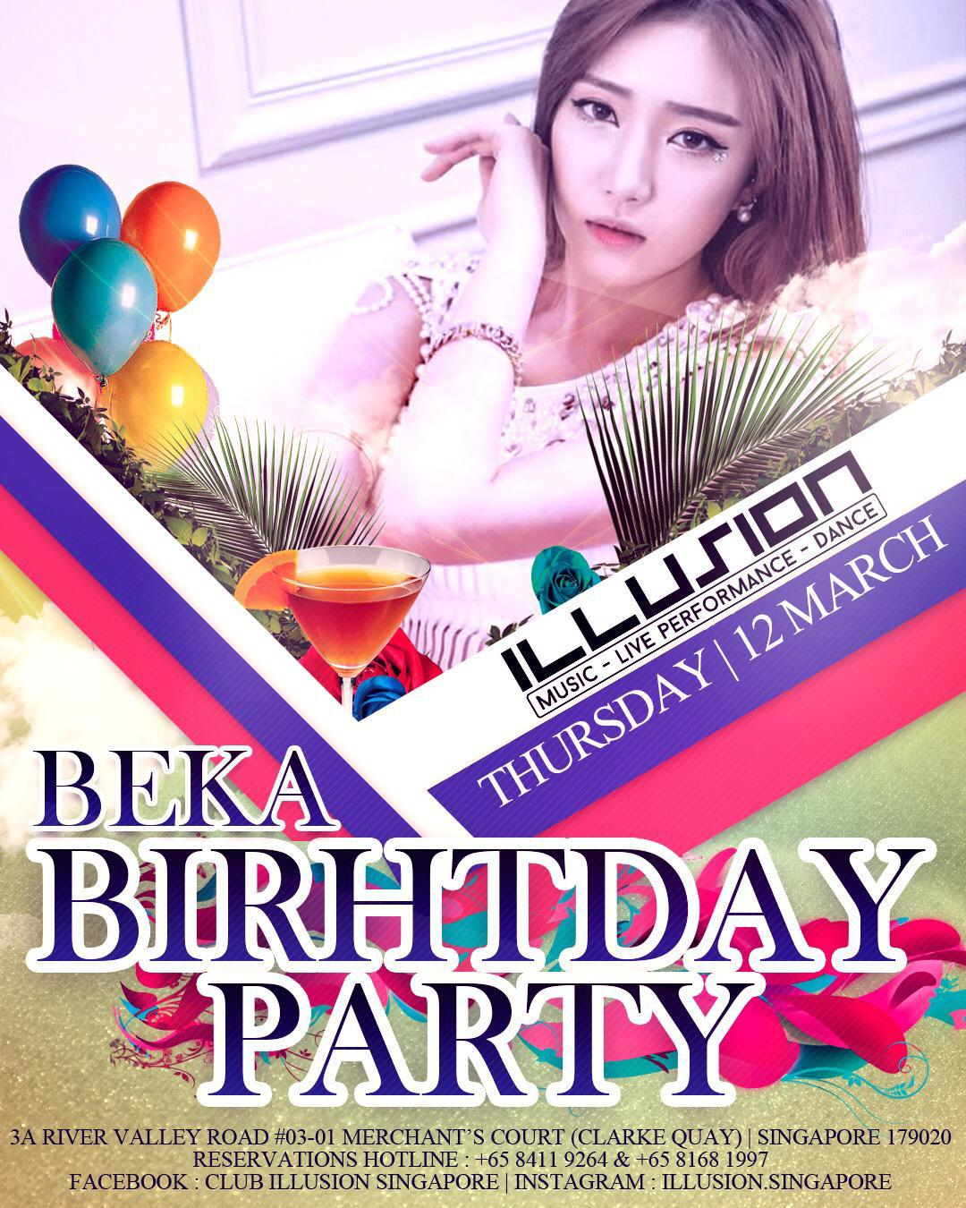 EVENTS – BEKA BIRTHDAY